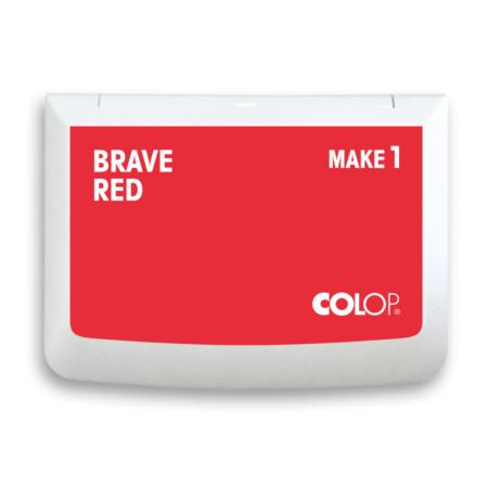 Stamp Ink Pad Brave Red