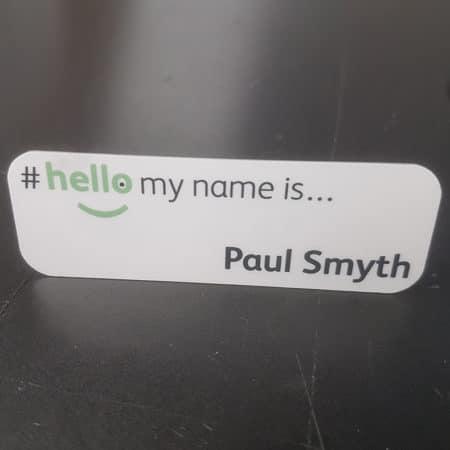 Sublimation name badge