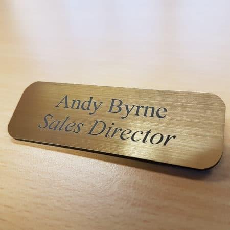 Laser engraved name badge