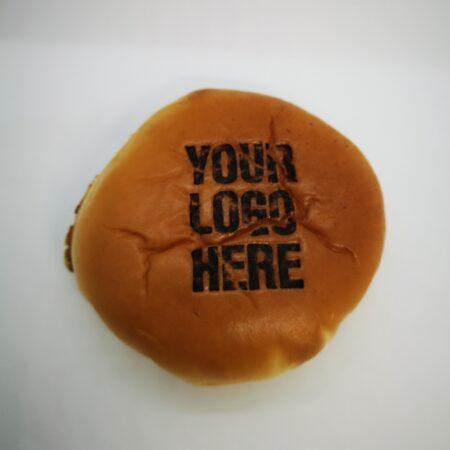 branded brioche burger