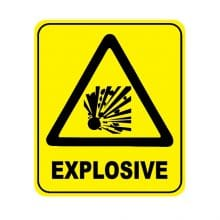 explosive sign