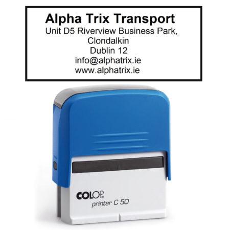 transport address stamp design 3