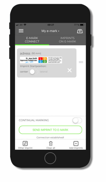 E-mark screenshot